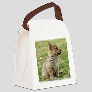 Swedish Vallhund Pup 9Y165D-131 Canvas Lunch Bag