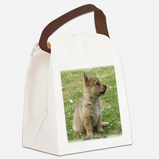 Swedish Vallhund Pup 9Y165D-131 Canvas Lunch Bag