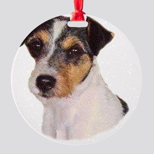 JACK RUSSELL oval Round Ornament