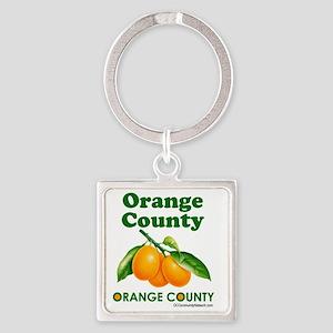 orange-county-design Square Keychain