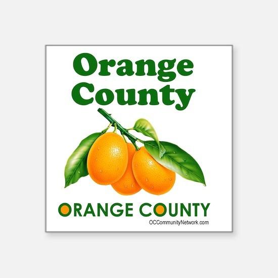 """orange-county-design Square Sticker 3"""" x 3"""""""
