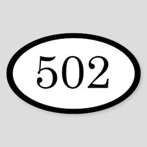 502_bumper Sticker (Oval)