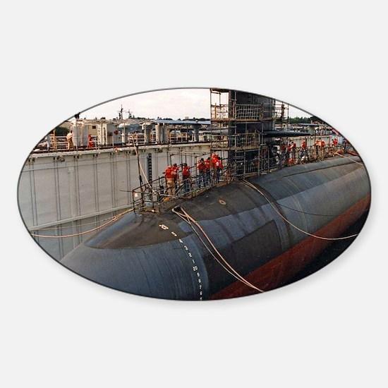 aspro large framed print Sticker (Oval)