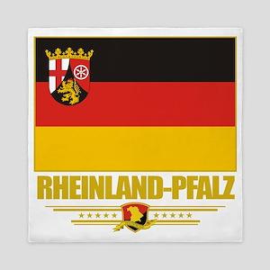 Rheinland-Pfalz (Flag 10) Queen Duvet