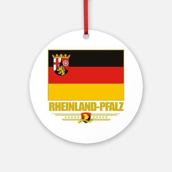 Rheinland-Pfalz (Flag 10) Round Ornament