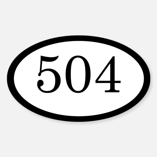 504_bumper Sticker (Oval)