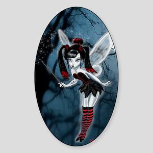 Dark Goth Fairy Sticker (Oval)