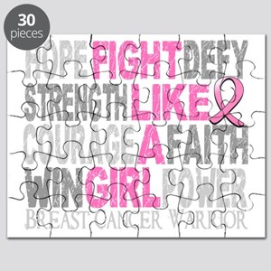 Fight Like A Girl Breast Cancer 23.4 D Puzzle