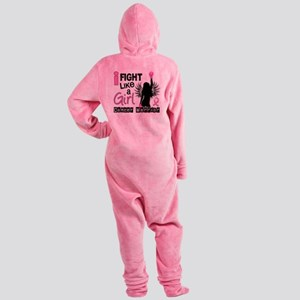 Fight Like A Girl Breast Cancer 26. Footed Pajamas
