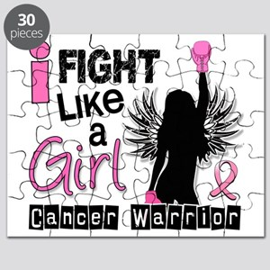 Fight Like A Girl Breast Cancer 26.2 Puzzle