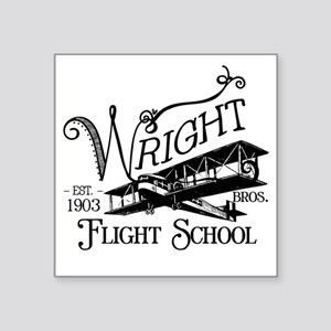 "FlightSchool Square Sticker 3"" x 3"""