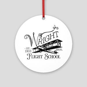 FlightSchool Round Ornament