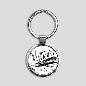 FlightSchool Round Keychain