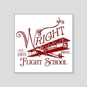 "FlightSchoolCrimson Square Sticker 3"" x 3"""