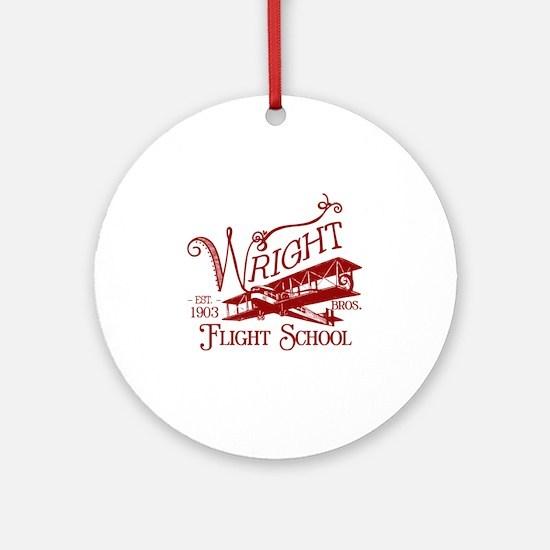 FlightSchoolCrimson Round Ornament