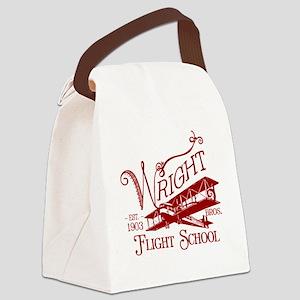 FlightSchoolCrimson Canvas Lunch Bag