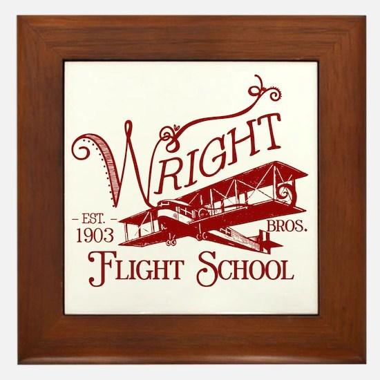 FlightSchoolCrimson Framed Tile