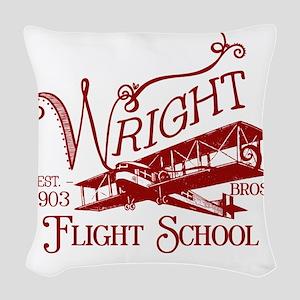 FlightSchoolCrimson Woven Throw Pillow