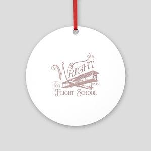 FlightSchoolWashedOutRed Round Ornament