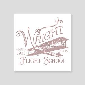 """FlightSchoolWashedOutRed Square Sticker 3"""" x 3"""""""