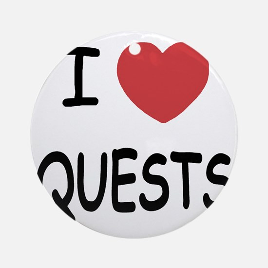 QUESTS Round Ornament