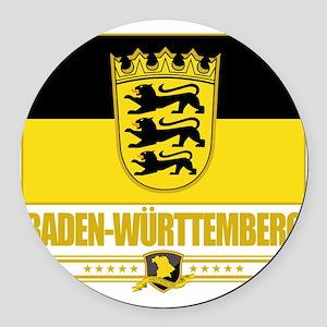 Baden-Wurttemberg (Flag 10) Round Car Magnet