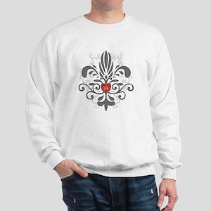 FleurHeartGrayTR Sweatshirt