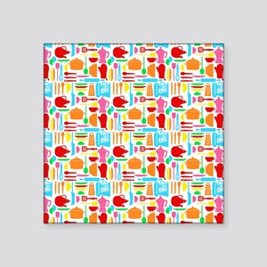 """ColorFulKitchenThings Square Sticker 3"""" x 3"""""""