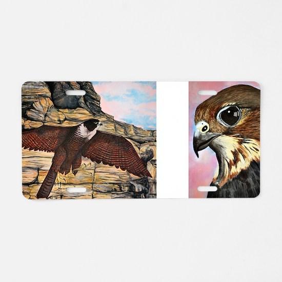 birds of prey Aluminum License Plate