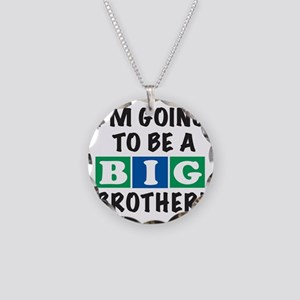 2T back Big Bro BLUE Necklace Circle Charm