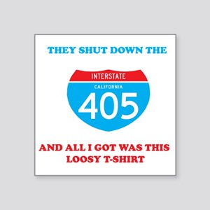 "interstate-4052 Square Sticker 3"" x 3"""