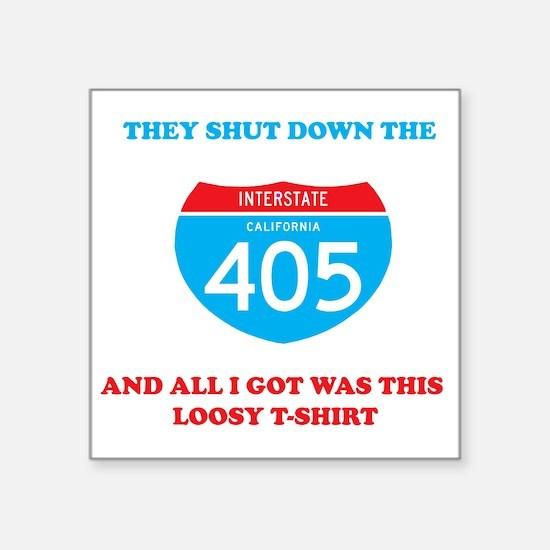 "interstate-4052 Square Sticker 3"" x 3"""
