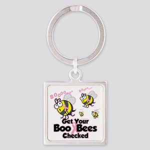 Save-The-Boo-Bees Square Keychain