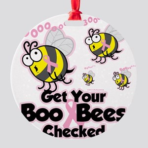 Save-The-Boo-Bees Round Ornament