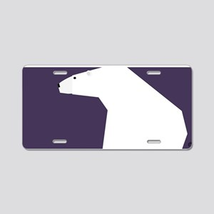 polar bear Aluminum License Plate