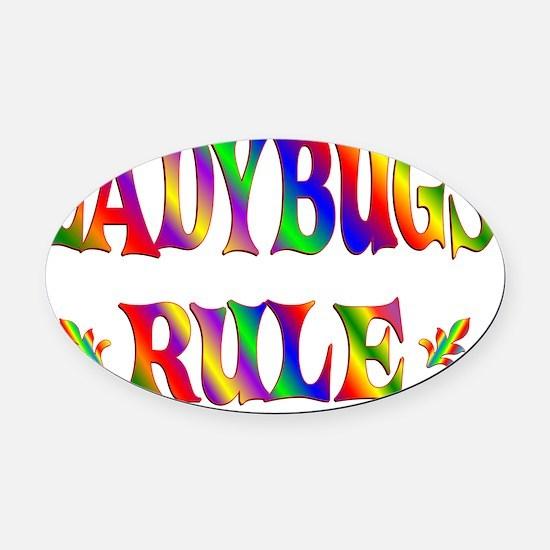 LADYBUGS Oval Car Magnet