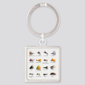 Flies Square Keychain