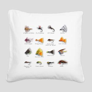 Flies Square Canvas Pillow