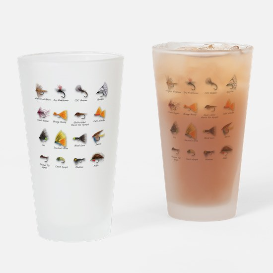 Flies Drinking Glass