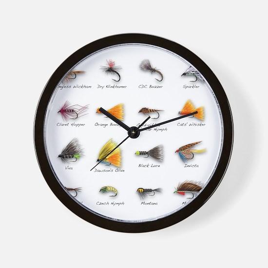 Flies Wall Clock