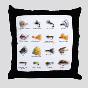 Flies Throw Pillow