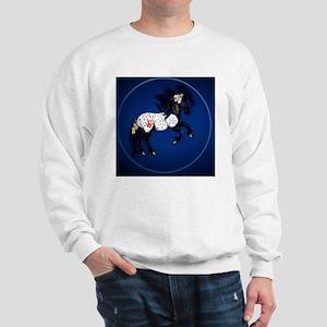 Appaloosa War Pony circle Sweatshirt
