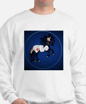 Appaloosa War Pony circle Sweatshirt