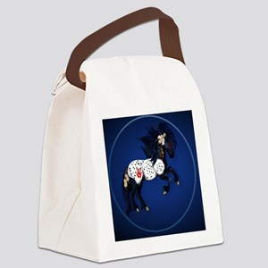 Appaloosa War Pony circle Canvas Lunch Bag