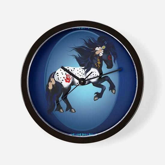 Appaloosa War Pony Oval_pillow Wall Clock