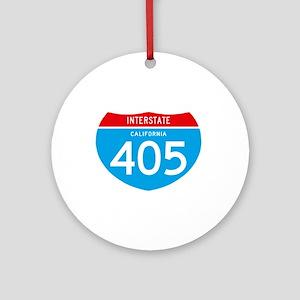 interstate405F Round Ornament