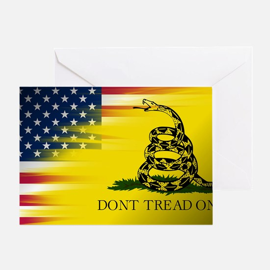 American and Gadsden Flag Greeting Card