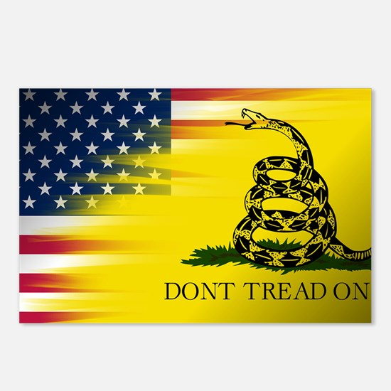 American and Gadsden Flag Postcards (Package of 8)