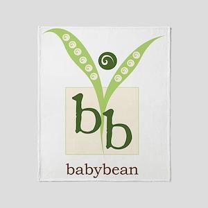 BabyBean Logo Throw Blanket