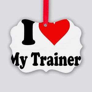 I Heart My Trainer Picture Ornament